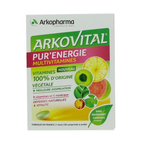 Arkovital Pur'Energie 30 comprimés  au meilleur prix| Arkopharma