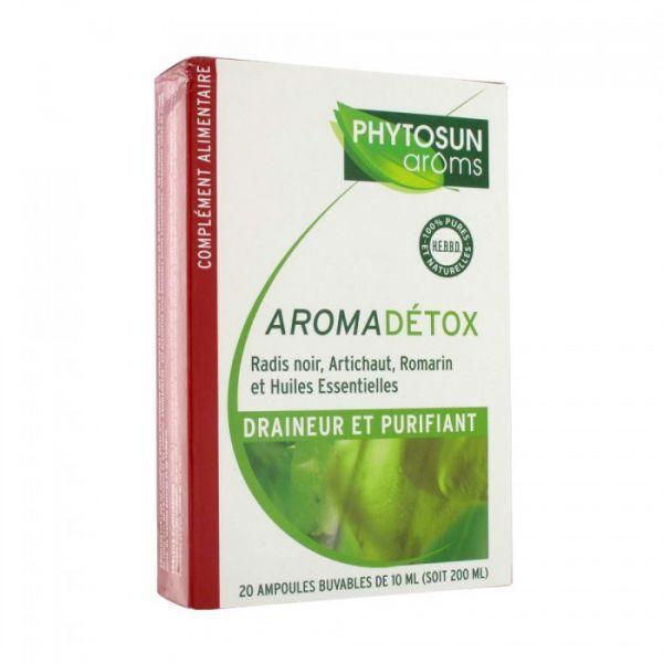 Aromadétox 20 ampoules  à prix bas| Phytosun