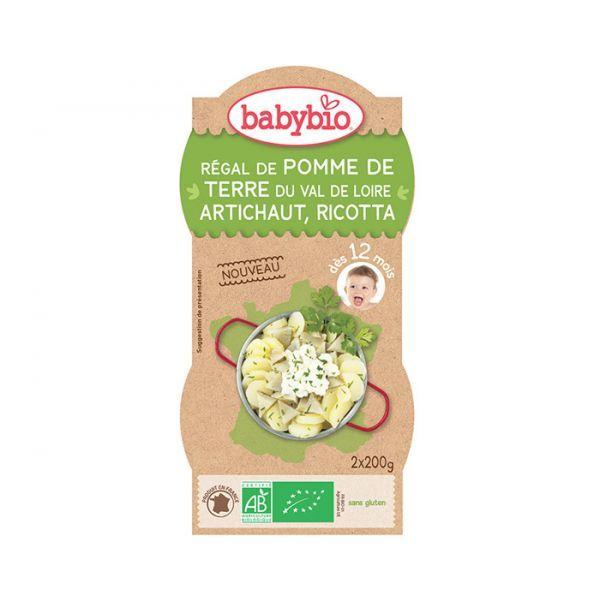 Achetez à prix discount le Bol Régal de Pomme de Terre Artichaut Ricotta de Babybio