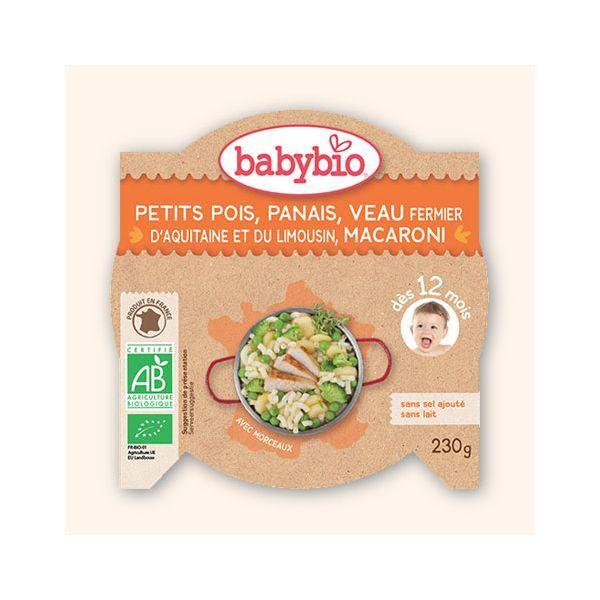 Achetez au meilleur prix Babybio l'assiette au veau fermier et petits pois