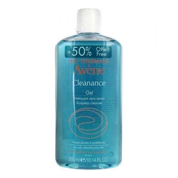 Avène Cleanance Gel Nettoyant 200ml +50% OFFERT (=300ml) moins cher
