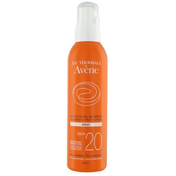 Achetez Avène Solaire Spray Protection modérée  SPF 20 200ml moins cher