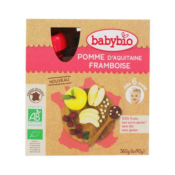Babybio pomme framboise au prix le moins cher