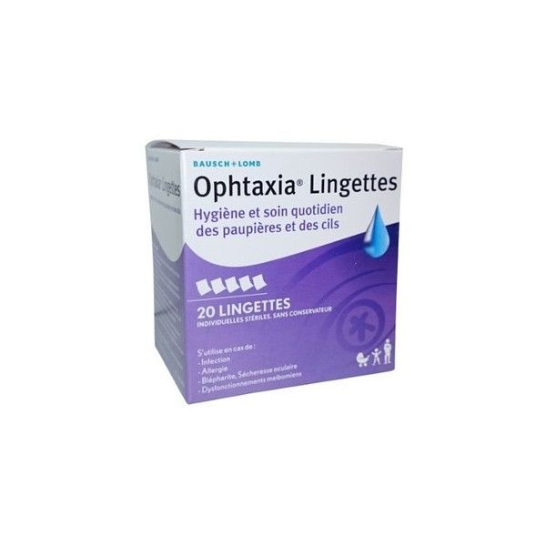 omb Ophtaxia Lingettes Oculaires x20 moins cher| Bausch&Lomb