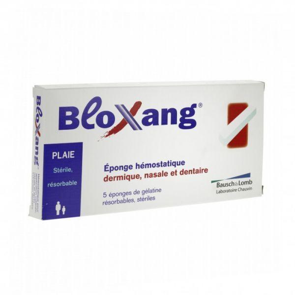 omb Bloxang Eponges Hémostatiques 5 au meilleur prix  Bausch&Lomb