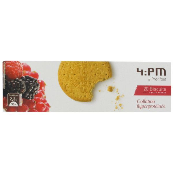 4:PM Biscuits Saveur Fruits Rouges 20 à prix bas| Protifast