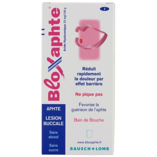 omb Bloxaphte Bain de bouche 100ml moins cher  Bausch&Lomb