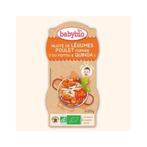 Achetez au meilleur prix le Bol Mijoté de légumes Poulet fermier de Babybio