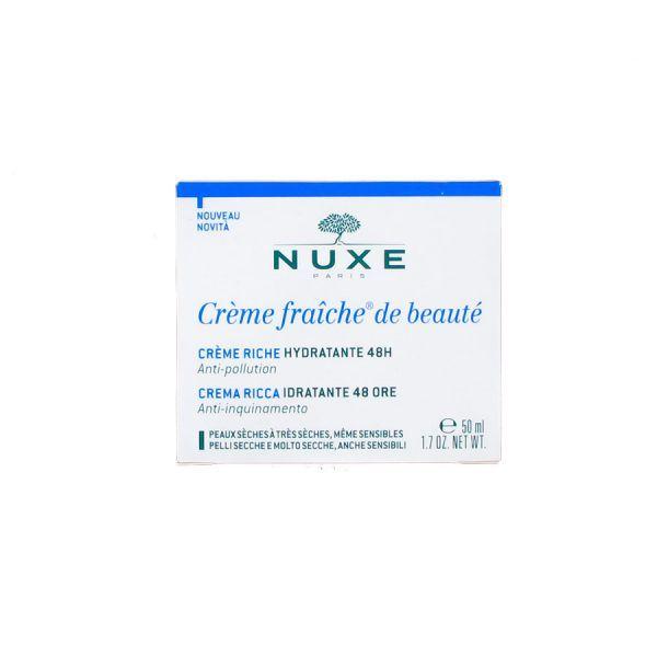 Crème fraîche de beauté riche hydratante 50ml moins cher   Nuxe