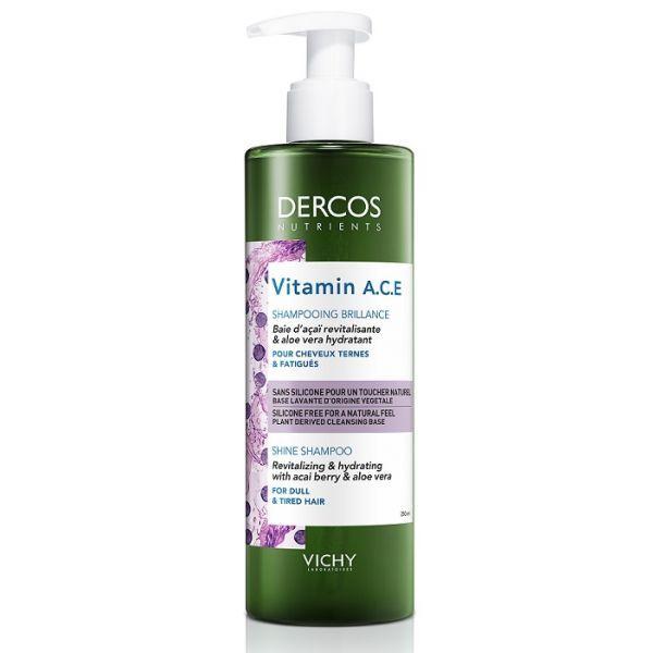 Shampoing Brillance 250ml Dercos Nutrients Vitamin ACE