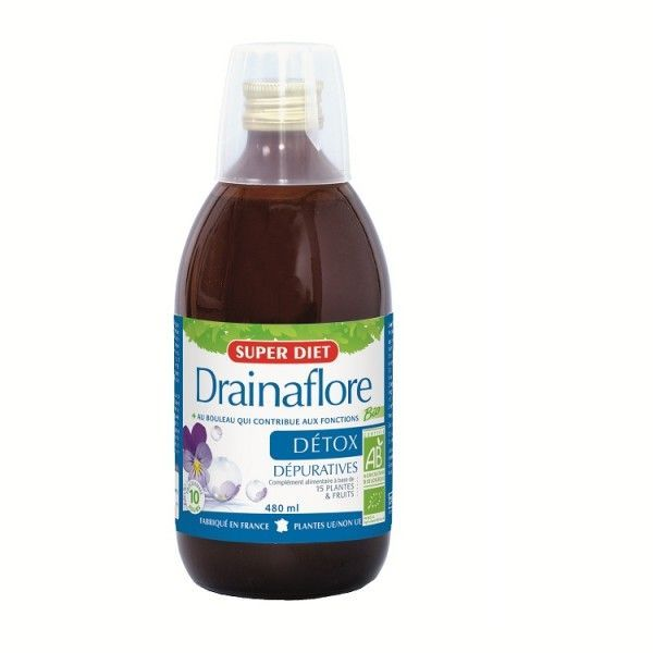 Drainaflore Bio Boisson Détox 480ml offre spéciale -2€ à prix bas| Super Diet