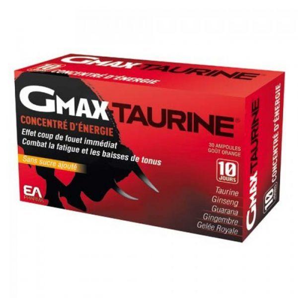 Gmax-Taurine Actifs Concentrés  30 ampoules à prix discount| Eafit