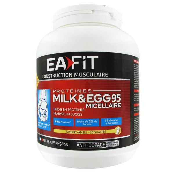 Milk & Egg 95 Micellaire Vanille 750gr NOUVELLE FORMULE moins cher| Eafit