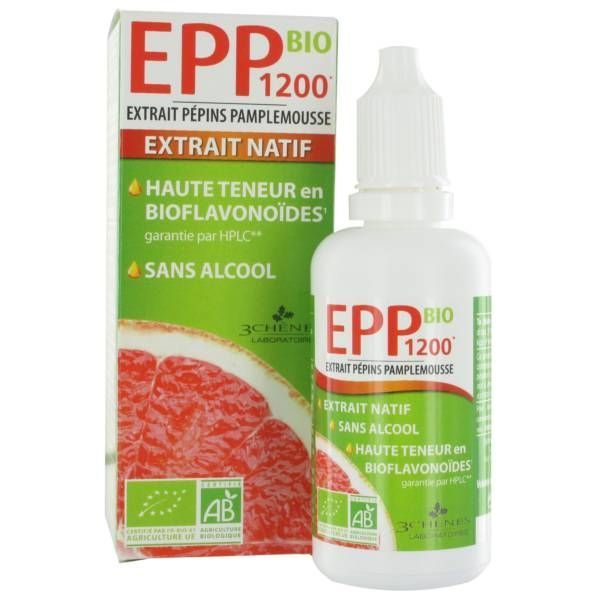 Extrait de Pépins de Pamplemousse EPP 1200 bio 50ml moins cher| Les 3 Chênes