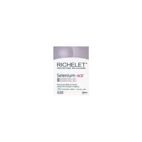 Selenium-ACE Essentiel 30+   /30 comprimes  moins cher| Richelet