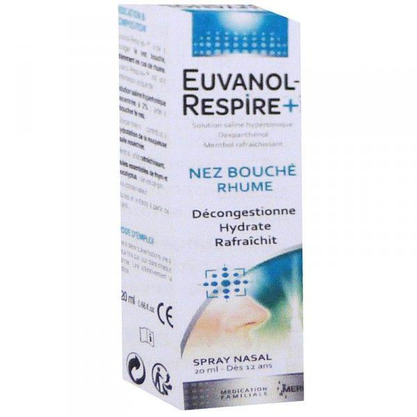 Respire+ Spay nasal Nez bouché - Rhume 20ml à prix discount  Euvanol