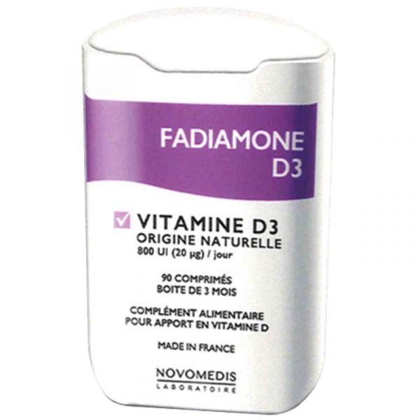 Vitamine D3 90 comprimés Fadiamone