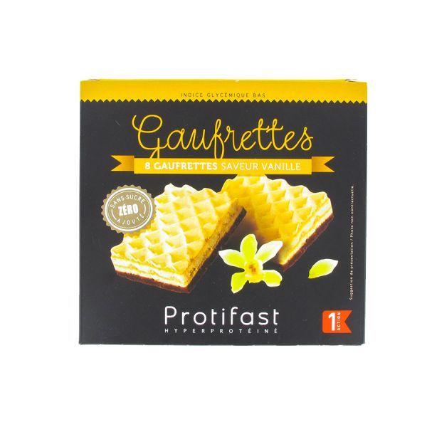 Gaufrettes Vanille 4 sachets de 2 au meilleur prix  Protifast