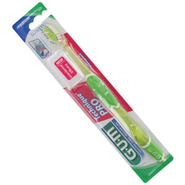 Achetez Gum Brosse à Dent Technique Pro Médium Vert et Jaune moins cher