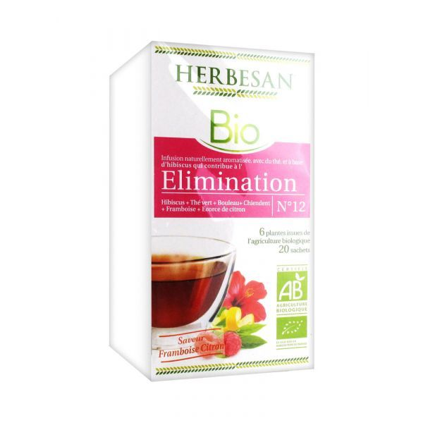 Bio Infusion Elimination 20 Sachets moins cher| Herbesan