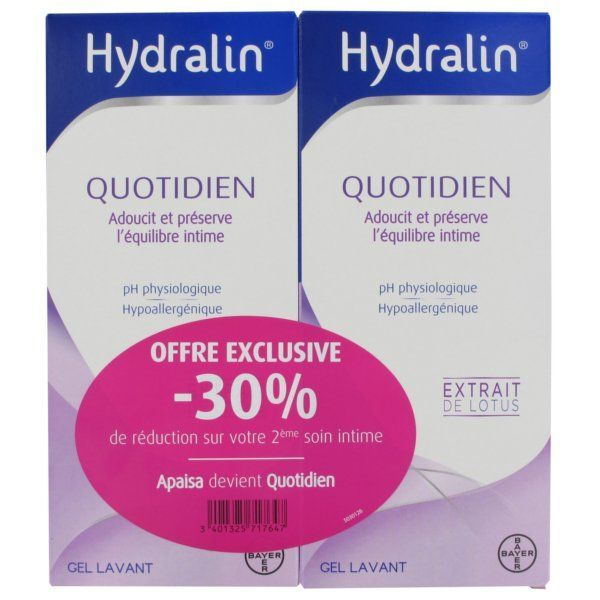 Achetez Hydralin Quotidien 2X400ml moins cher