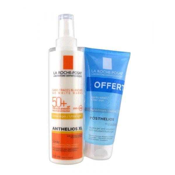 Anthelios XL  Spray Ultra léger SPF50+ 200 ml + OFFERT Posthélios après soleil 100ml moins cher| La Roche Posay