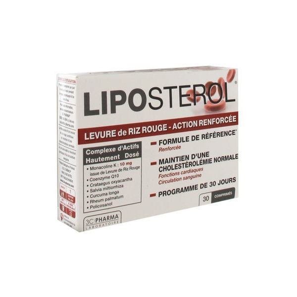 Liposterol 30 comprimés moins cher| 3 C Pharma