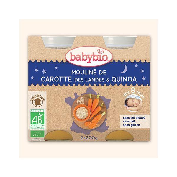 Achetez au meilleur prix les petits pots Bonne Nuit de carotte des Landes et quinoa