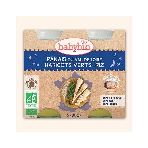 Achetez au meilleur prix les petits pots Bonne Nuit de Babybio au panais, haricots verts et riz