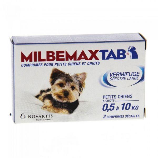 Chiots et Petits Chiens  2 Comprimés moins cher  Milbemaxtab