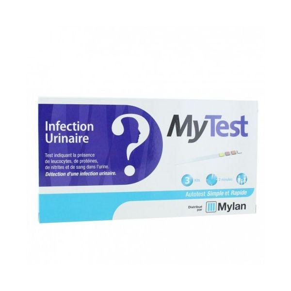 My Test Infection Urinaire 3 Kits à prix bas  Mylan