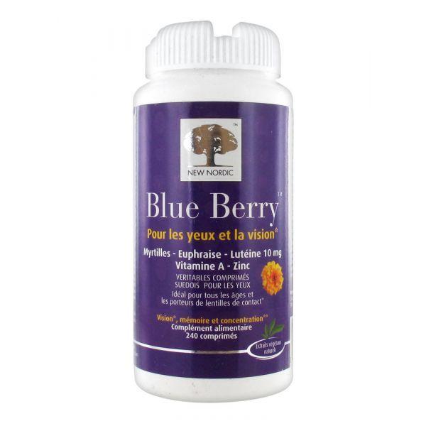 Blue Berry 240 Comprimés. à prix discount  New Nordic