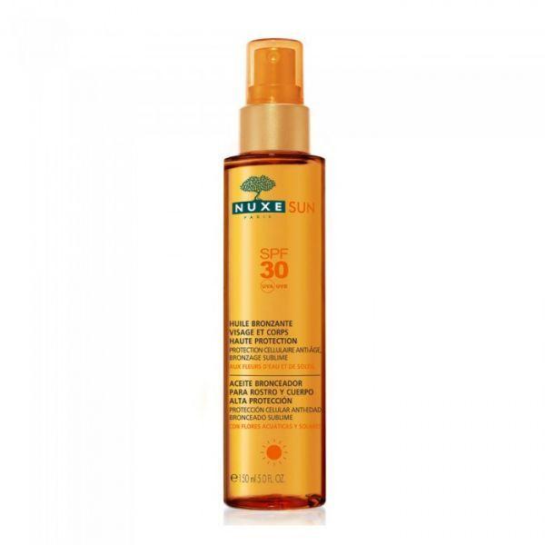 Sun Huile Bronzante SPF30 150ml moins cher| Nuxe