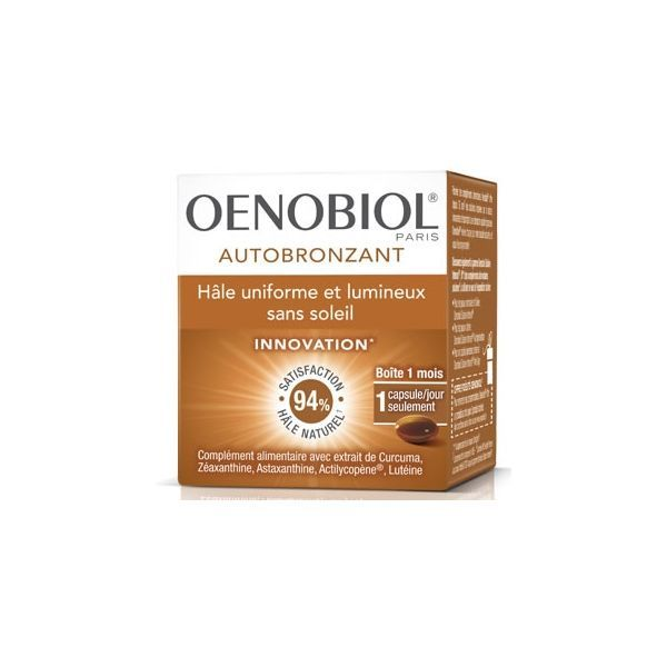 Autobronzant 30 capsules à prix bas| Oenobiol