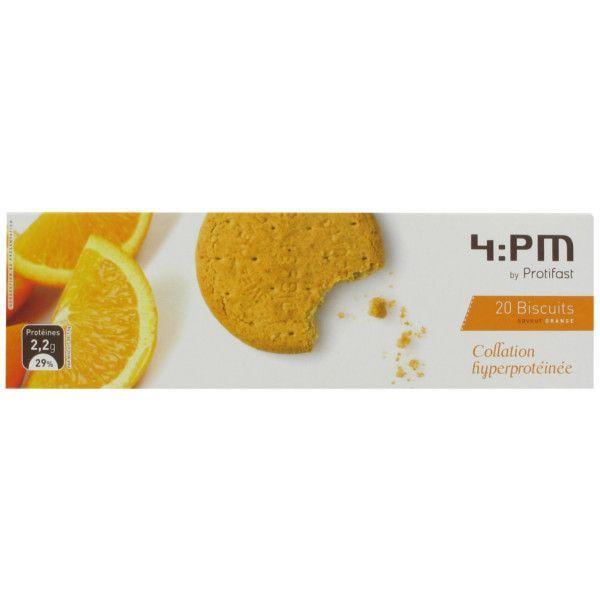 4:PM Biscuits Saveur Orange 20 au meilleur prix| Protifast