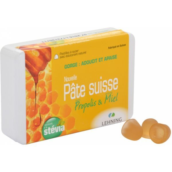 Pâte suisse Miel et Propolis Pastilles 50 gr au meilleur prix| Lehning
