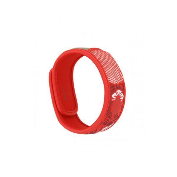 Bracelet Anti-moustique Graffic Rouge Fleur moins cher| Para'kito