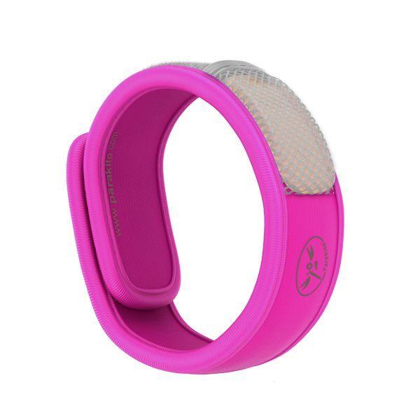 Bracelet Anti-moustique Naturel Fuschia moins cher| Para'kito