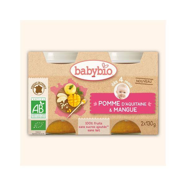 Achetez au meilleur prix les petits pots à la mangue et à la pomme d'Aquitaine de Babybio
