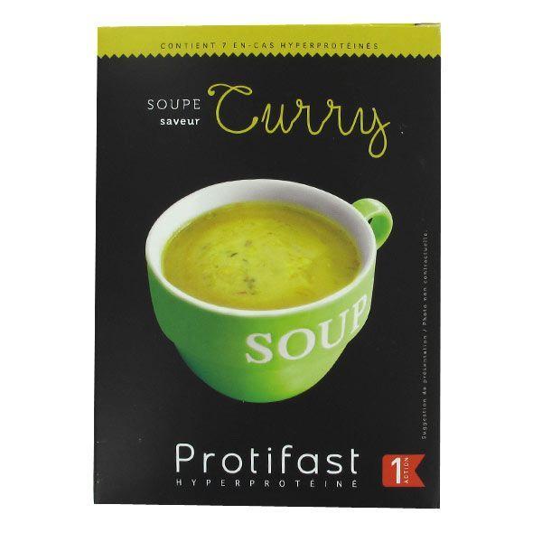 Velouté Curry 7 Sachets à prix discount| Protifast
