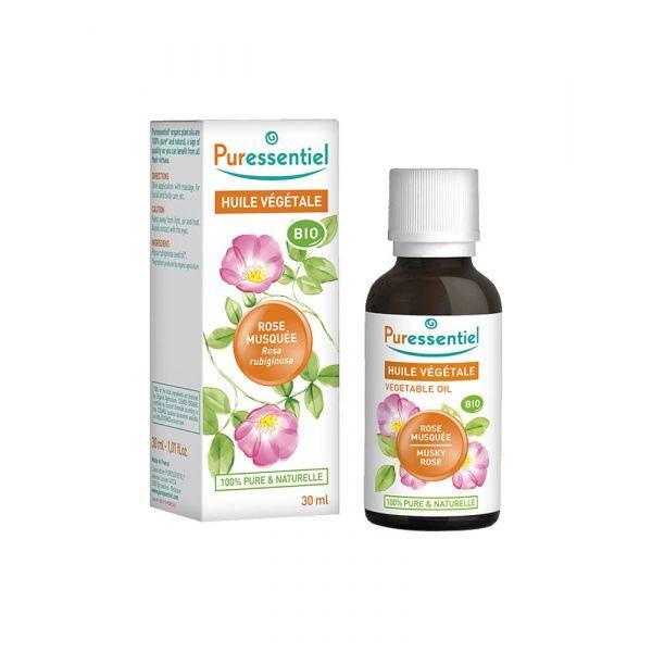 Huile Végétale Bio de Rose Musquée 30ml moins cher| Puressentiel