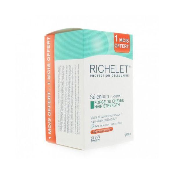 Protection Cellulaire Sélénium + L-Cystine 60 capsules + 30 Offertes. à prix discount  Richelet