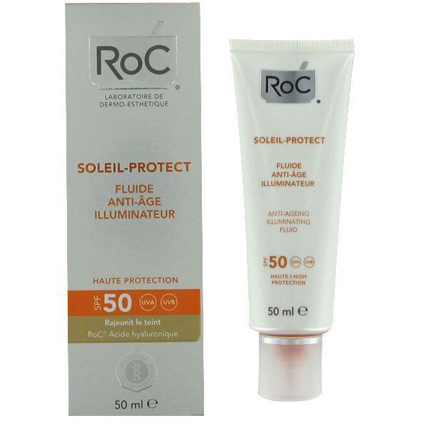 Soleil Protect Fluide Anti-âge Illuminateur SPF50+ 50ml à prix bas| RoC
