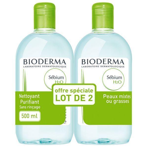 Sébium H2O 500ml  Lot de 2 à prix discount  Bioderma