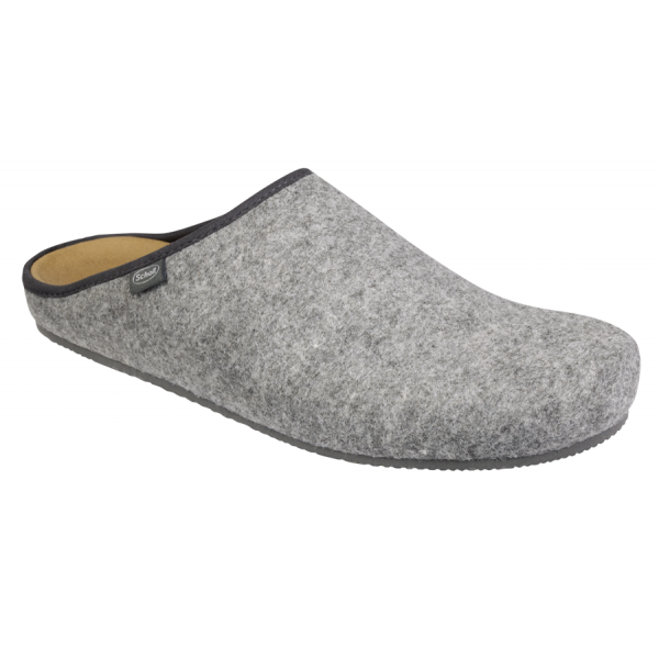 Scholl chaussons mules homme Sheldon gris
