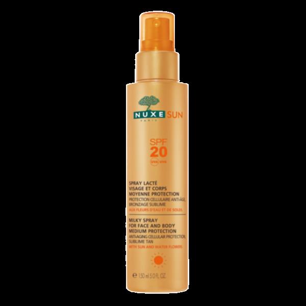 Sun Spray lacté visage et corps SPF20  à prix bas| Nuxe
