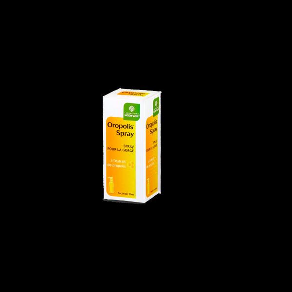Oropolis Spray pour la gorge à l'extrait de propolis  20ml au meilleur prix| Médiflor
