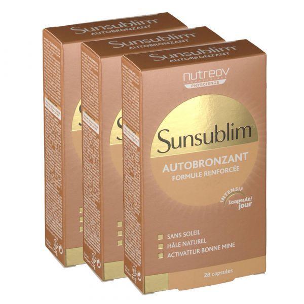 Sunsublim Autobronzant Ultra 2X28 Capsules au meilleur prix  Nutreov