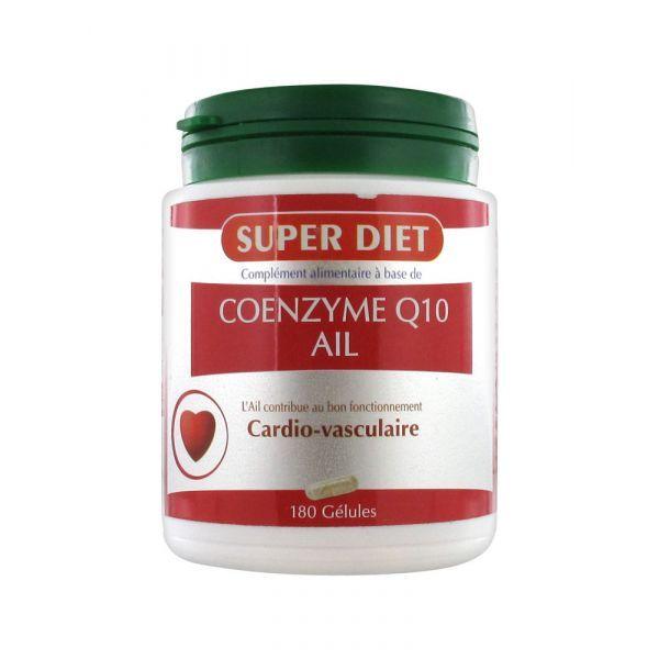 Coenzyme Q10 Ail 180 capsules au meilleur prix  Super Diet