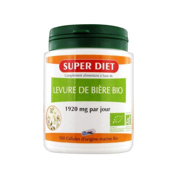 Levure de Bière Bio 100 Gélules à prix bas| Super Diet